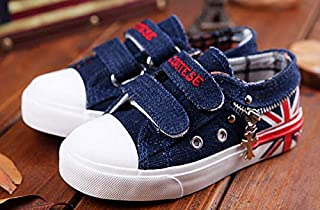 SandQ baby Navy Blue Canvas Shoe with Flag