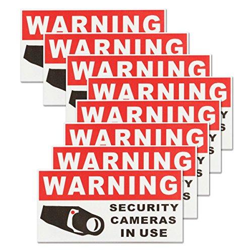 ILS - 8 stuks bewakingscamera in gebruik zelfklevende sticker veiligheidsteken sticker waterdicht