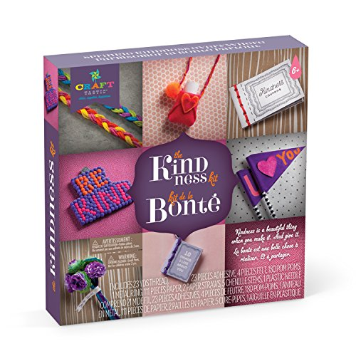 Craft-tastic – Kindness Kit – Craft Kit Includes 8 Projects to Inspire Kindness, Bilingual