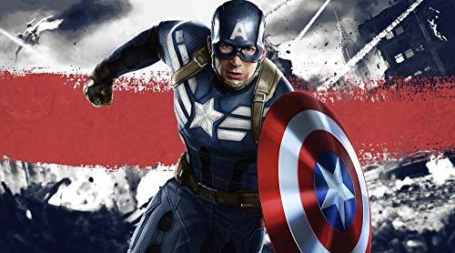 ZPDWT Puzzles 1000 Piezas-Capitán América: El Soldado del Invierno-Rompecabezas de madera para niños para Adultos Desarrollar la Paciencia Enfoque Reducir la PresióN DIY gift-75*50cm