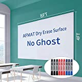 Whiteboard Wallpaper, White Board Stickers, Dry Erase Paper, Peel and Stick White Erase Boards for Wall/Table/Doors/Glass/Fridge, 8 x 4 ft/96 x 48 inches, 9 Dry Erase Markers