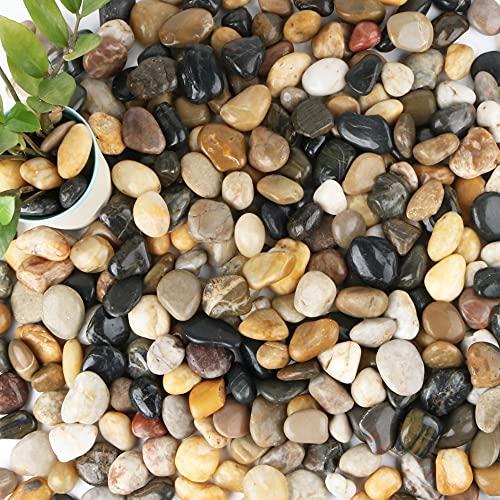 """Anothera 18-lb Bulk Bag Pebbles for Plants 1-2 """" Aquarium Gravel River Rocks Garden Outdoor Decorative Stones"""