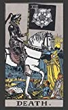 Daily card draw journal for tarot, oracle or angel cards - 5x8 inches, 100 pages - Waite cover: Simple tracker for any card pulls