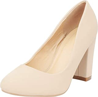 Cambridge Select Women's Classic Chunky Block Heel Round Toe Pump