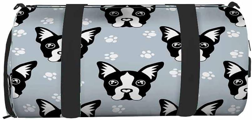 Nicokee Translated Cute Bulldogs Gym Bag for Men Travel Ba Women Max 78% OFF Duffel
