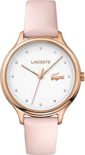 Lacoste Womens Quartz Watch, Analog Display and Leather Strap 2001087
