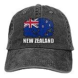 Nouvelle-Zélande Drapeau Football Rugby Hommes Femmes Casquettes de Baseball Ajustables Denim Jeanet Casquette de Camionneur