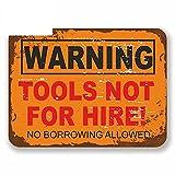 A/X 13cmx13cm para Herramientas de Advertencia No para Alquiler Sign RV Van DIY Fine Decal