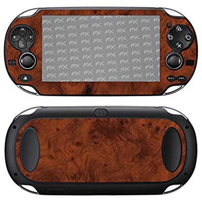atFoliX Skin compatible with Sony PlayStation Vita, Sticker Decal (FX-Wood-Root), Wood structure / Wood foil