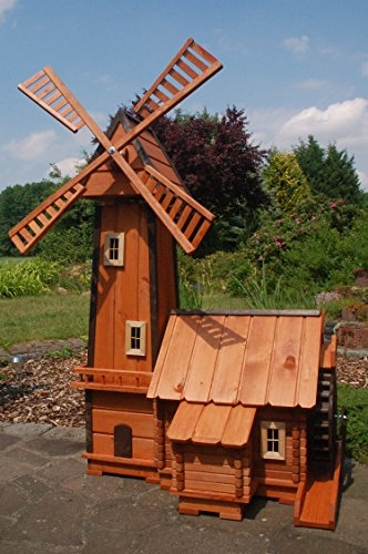 Deko-Shop-Hannusch Windmühle mit integrierter Wassermühle++kugelgelagert