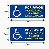 Autodomy Pegatinas Discapacitado Minusválido por Favor Dejé al Menos 3 Metros para el Acceso Pack 2 Unidades para...