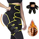 3 In 1 Workout Waist and Thigh Trainer Trimmer with Butt Lifter for Women Weight Loss Everyday Wear, High Waist Adjustable Slimming Body Trainer (L/XL)