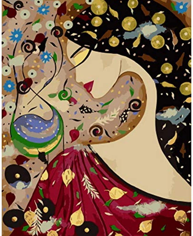 CZYYOU DIY Malen Nach Zahlen Malen Malen Malen Nach Zahlen Für Wohnkultur Für Wohnzimmer Abstrakte Frau, Ohne Rahmen, 50x60cm B07Q45CZRN | Mode-Muster  6aba13
