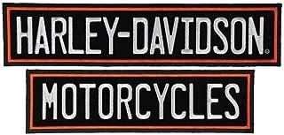 Harley-Davidson Embroidered Straight Rockers Emblem, 3XL 12 x 2.75 inch EM199667