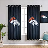 Elxmzwlob Blackout Curtains American Tootball Team Denv-er Bron-cos Grommet Blackout Curtains Waterproof Window Curtain, W54 x L72, 2 Panels