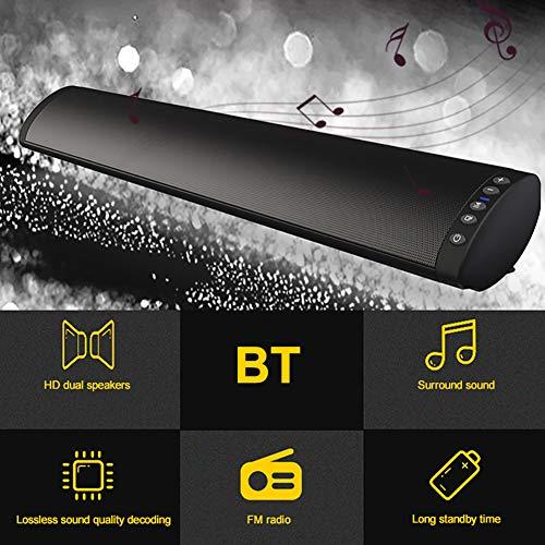 CplaplI Alta Potencia 20W HiFi Altavoz Inalámbrico Bluetooth Barra De Sonido Estéreo TF FM USB Subwoofer Computadora TV Teléfono