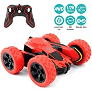 RC Cars Stunt Car Toy, Amicool 4WD 2.4Ghz Remote Control Car Double Sided Rotating Vehicles 360° Flips, Kids Toy Cars for Boys & Girls Birthday No Battery