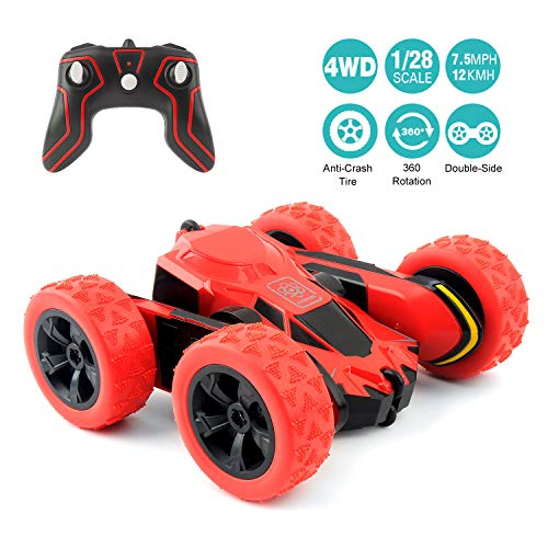 RC Cars Stunt Car Toy, Amicool 4WD 2.4Ghz Remote Control Car Double Sided Rotating Vehicles 360°...