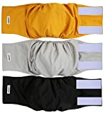 wegreeco Washable Male Dog Belly Wrap - Pack of 3 -...
