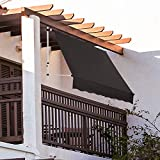 Strattore Toldo articulado con Armazón 250 x 120 cm - sin taladrar - Antracita Enrollable Terraza Balcón Toldo Protector de Sol Retráctil