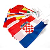 VORCOOL France Euro coupe String drapeau 24 pays drapeaux banderoles drapeaux chaîne drapeau 14 * 21cm