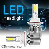 2pcs H13 / 9008 C6 COB LED Car Headlight Kit Hi or Lo Light Bulb 10800LM 6000K 120W