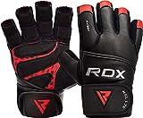 RDX Fitness Handschuhe Gewichtheben Trainingshandschuhe krafttraining Rindsleder workout Gloves...