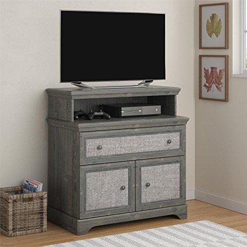 Altra Furniture Stone River Media Dresser with Fabric Inserts, Rodeo Oak