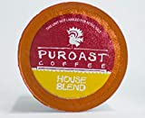 Puroast Low Acid Coffee Single-Serve Pods, House Blend, High Antioxidant, Compatible with Keurig 2.0 Coffee Makers (72 Count)