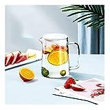 Kanne für Getränke Glaskrug mit Deckel Eistee Tee Pitcher Wasserkanne Heißer kaltes Wasser Eis...