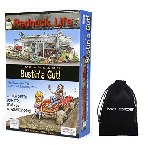 Redneck Life Expansion: Bustin' A Gut! Board Game Bundle with Drawstring Bag