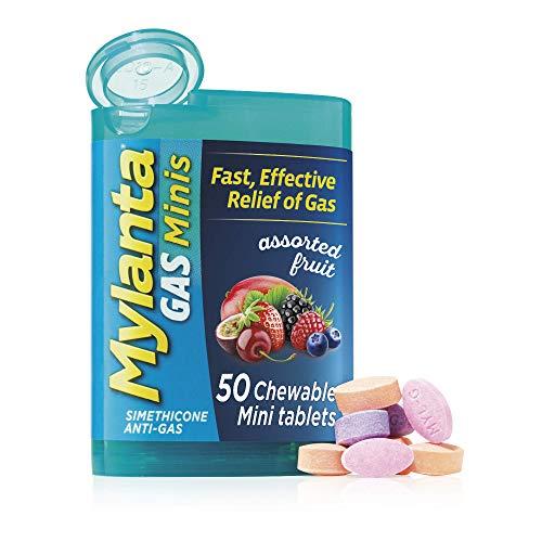 Mylanta Tabletas Anti-gas, Mini Comprimidos, Sabor Frutas Surtidas, 60 unidades