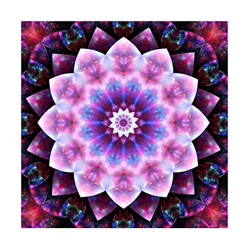 DIY Diamant Malset Buddha Datura Blumen Malen nach Zahlen Kits,Diamond Painting Kinder Strass Stickerei Kreuzstich Kits Supply Kunst Basteln Leinwand Wanddeko Aufkleber Home Decor 30 x 30 cm
