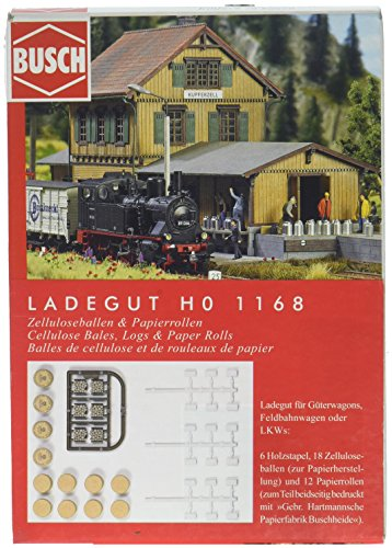 Busch 1168 Chargement de balles de cellulose et rouleaux de papier H0