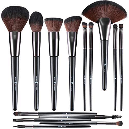 Pennelli per trucco Start Makers 14Pcs Set di Pennelli Make Up compresi eyeliner Ombretto Pennello per sopracciglia Pennelli per Trucco Professionale per Adatto per Truccatori