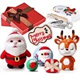 KUUQA aguja de fieltro Kit para principiantes, fieltro de lana Las herramientas con instrucciones de la herramienta para el bricolaje Fieltro Fieltro Craft Proyecto Navidad, Día del Niño (Orange)