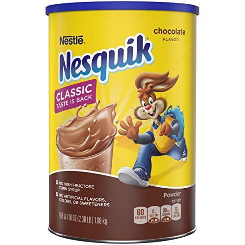 Nesquik Powder Drink Mix, Chocolate, 38 Ounce, Pack of 6