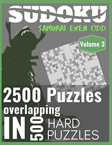 SUDOKU Samurai Even-Odd Volume 3, 2500 puzzles...