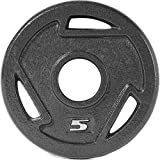 CAP Barbell 2-Inch Olympic Grip Plate (5-Pound (Set of 2))