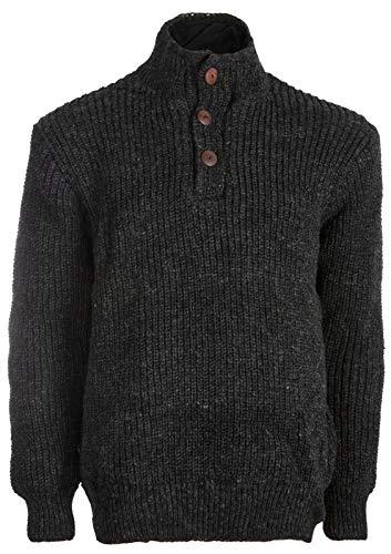 Michael Heinen Premium-Wollpullover | Herren | Hochwertige Strick-Pullover | 100{785818a3a9aafcec00ec095bd42f8c71cb421e69998853ae8a2b77581783ee10} Wolle | Warmes Innenfutter aus Fleece | Kuschelig & Bequem | Übergangs-Pullover | Extra warm