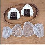 2 Paires Transparent Pratique Cuisine Bento Sushi Onigiri Moule Décoration Alimentaire Presse Formulaire Triangular Boulette de Riz Accessoires Maker
