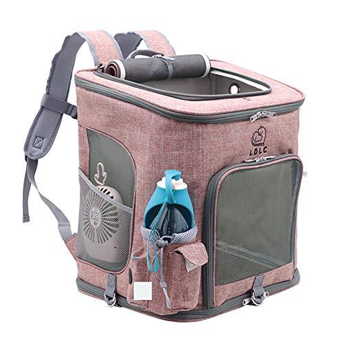 PETVE Pet Supplies, Oxford-Tuch-Haustier-Beutel, Outgoing Tragbarer Katzen-Tasche, Faltbarer Rucksack Haustier,Rosa