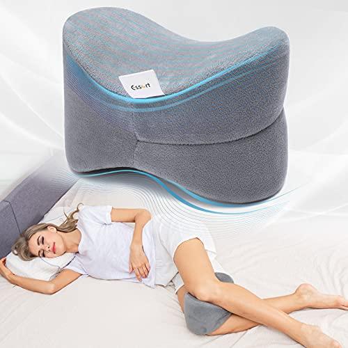 Cojín para Rodilla, ESSORT Almohada Rodillas, cojín para las piernas de espuma, 25×18×17cm Almohadas para Piernas para dolor en la pierna, embarazo y dolor en las articulaciones