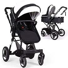 Bassinet Baby Stroller Reversible All Terrain - Cynebaby Vista City Select Strollers for Infant Toddler Pram Pushchair add Net Cover (Flash White)