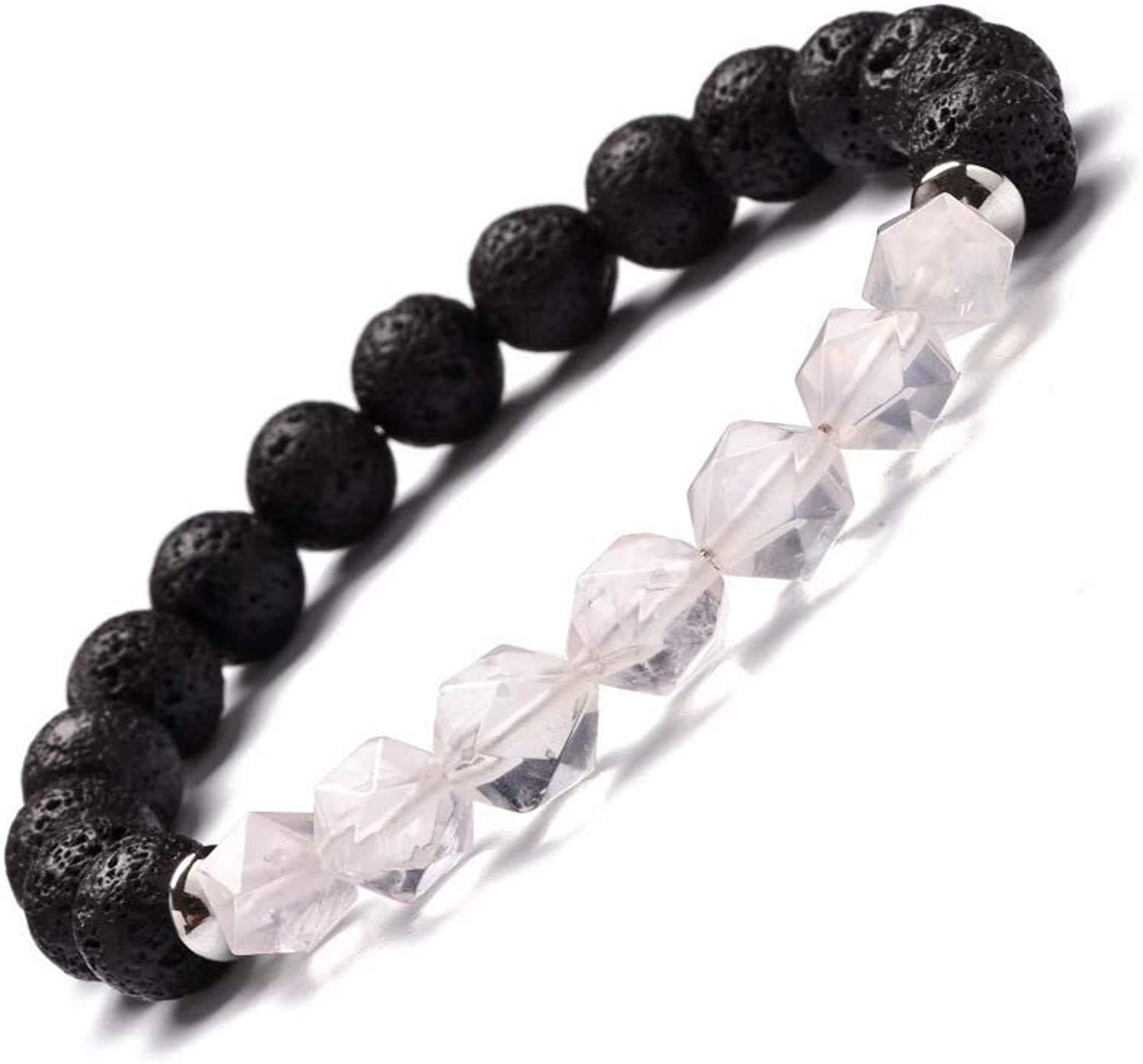 Zicue Stylish Charming Bracelet Exquisite Ornaments Natural Stone Amethyst Cutting Triangle Energy Crystal Bracelet Tiger Eye Stainless Steel Septum Bracelet ( color   SL166A4215 )