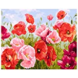 Kirmax Paint by Numbers DIY Kit de Pintura AcríLica para Ni?Os y Adultos 40X45Cm Flying Flower con 3 Pinceles