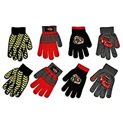 Nickelodeon Boys 4 Pack Mitten or Glove Set: Paw Patrol and Blaze (Age 2-7), Blaze Gloves 4-7