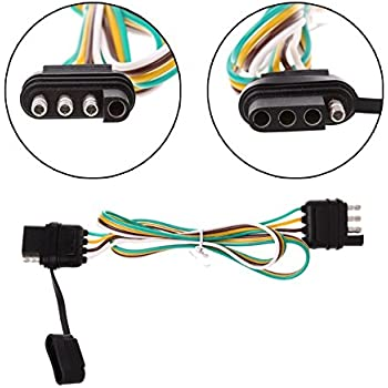 [DIAGRAM_38IU]  Amazon.com: Binoster 4-Way Trailer Wire Extension Wiring Harness Kit Hitch  Light Truck AWG Color Coded Wires With 4 Flat Pin Connector Plug & Socket:  Automotive | Truck Trailer Wiring Harness |  | Amazon.com