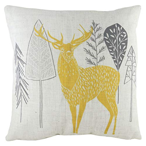 Evans Lichfield Hulder Stag Polyester Filled Cushion, Natural, 43 x 43cm