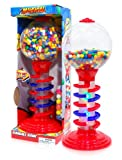 Sweet N Fun Light and Sound Spiral Gumball Bank with 340G Gumballs, 21'